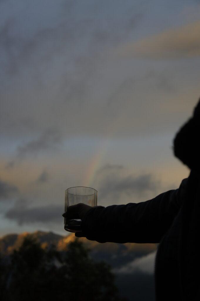 Regenbogen im Glas